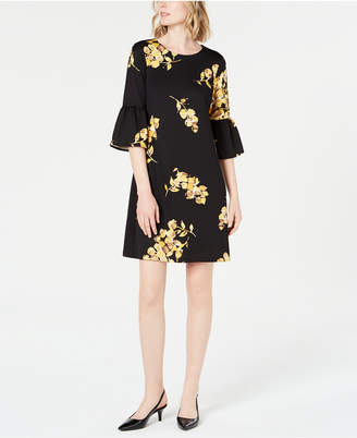 Alfani Scuba Bell-Sleeve Dress