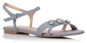 Bell Embellished Suedette Sandals