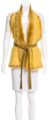 Karl Donoghue Belted Shearling Top w/ Tags