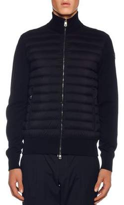 Moncler Men's Jersey Tricot Cardigan