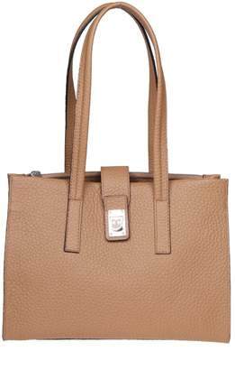 Furla Idea Shopping M In Caramel Leather