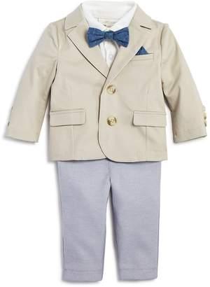 Miniclasix Boys' Blazer, Polo Shirt & Pants Set with Removable Bow Tie