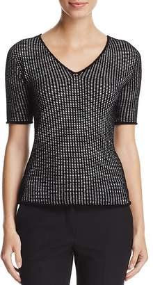 Armani Collezioni Grid-Knit Sweater