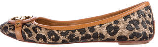 Tory BurchTory Burch Leather Round-Toe Flats