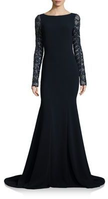 Theia Sequined Mermaid Gown $1,295 thestylecure.com