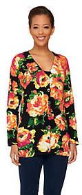 Isaac Mizrahi Live! Floral Printed Cardigan