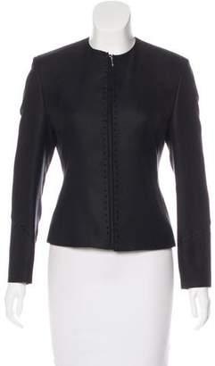 Gianni Versace Silk Zip-Up Jacket