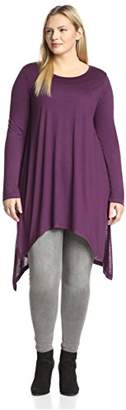 James & Erin Women's Drape Hem Tunic