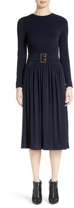 Women's Burberry Federical Belted Jersey Dress $1,295 thestylecure.com