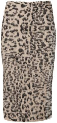 Laneus animal print skirt