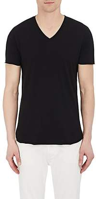 Barneys New York Men's Cotton-Blend V-Neck T-Shirt - Black