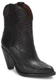 Givenchy Stitched Leather Western Booties