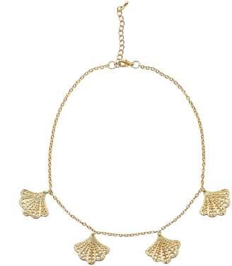 "Franny Lea Christine Jewelry Matte Gold Charm Choker ""The"