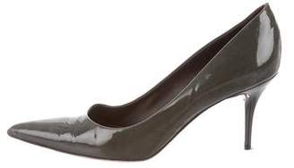 Calvin Klein Collection Leather Mid-Heel Pumps