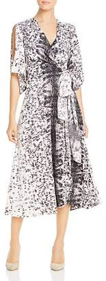 Kenneth Cole Abstract Print Wrap Dress