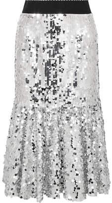 Dolce & Gabbana Paillette-embellished Tulle Midi Skirt