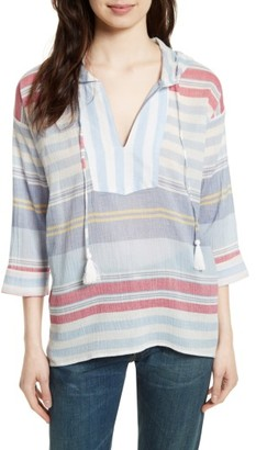 Women's Soft Joie Baja Cotton Gauze Hooded Top $158 thestylecure.com