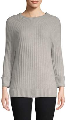 Saks Fifth Avenue Cashmere Classic Three-Quarter Sleeve Sweater