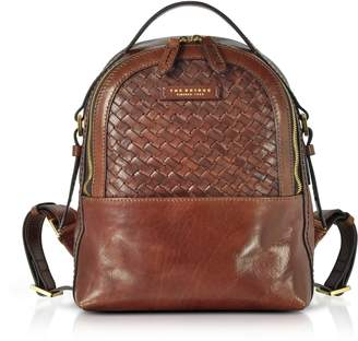The Bridge Salinger Woven Leather Women's Backpack