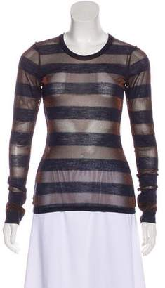 Alice + Olivia Mesh Long Sleeve Top