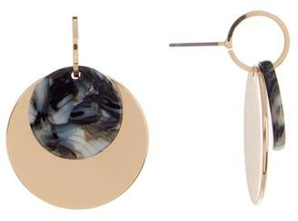Ettika Layered Resin Disc Drop Earrings