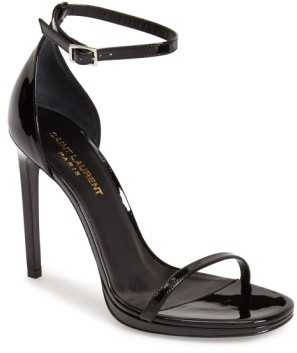 Women's Saint Laurent 'Jane' Ankle Strap Leather Sandal
