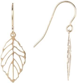 Karat Rush 14K Yellow Gold Drop Leaf Earrings