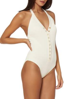 Dolce Vita Snap Front One-Piece Swimsuit