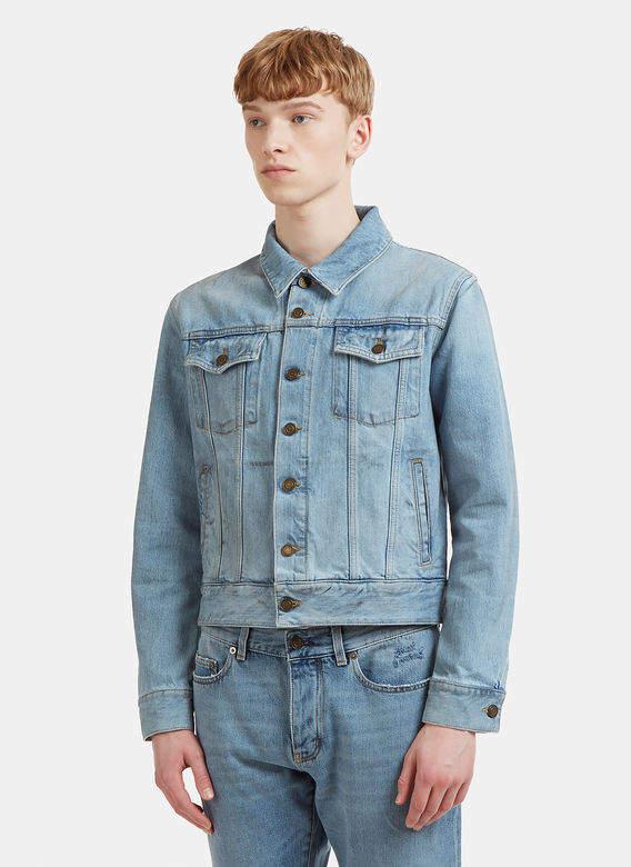 Dirty Grease Denim Jacket in Blue