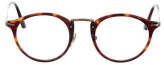 Persol Tortoiseshell Round Eyeglasses