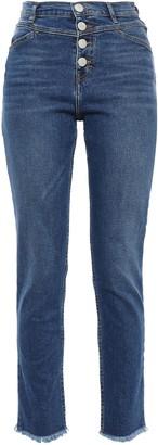 Maje Frayed High-rise Slim-leg Jeans
