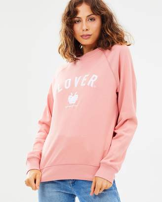 Lover Embroidered Crew