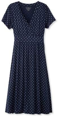 L.L. Bean L.L.Bean Summer Knit Dress, Short-Sleeve Dot