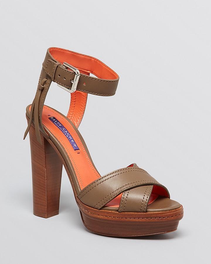 Ralph Lauren Platform Sandals - Gerine High Heel
