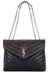 Saint Laurent Women's Monogram Loulou Medium Leather Shoulder Bag - Black