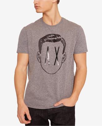 Armani Exchange Men Face Logo T-Shirt