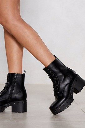 Nasty Gal Total Stud Chunky Boot