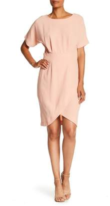 Bobeau Short Dolman Sleeve Wrap Dress
