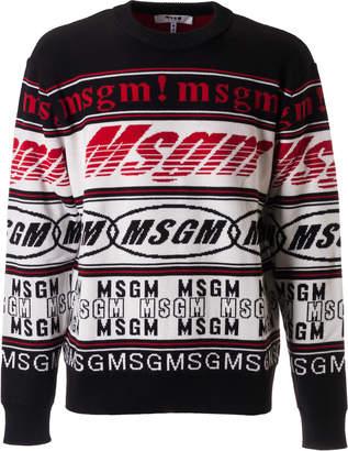 MSGM Assorted Logo Design Sweater