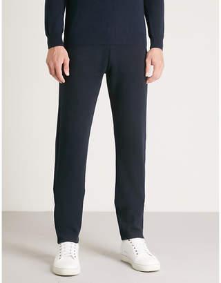 Corneliani Slim-fit wool-blend jogging bottoms