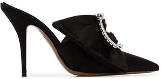 Alexandre Vauthier black Lola 100 buckle embellished satin pumps