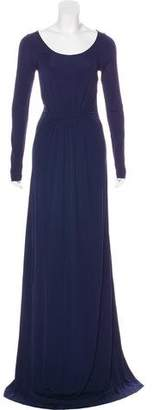 Diane von Furstenberg Long Sleeve Maxi Dress