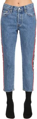 Levi's 501 Cropped High Waist Denim Jeans