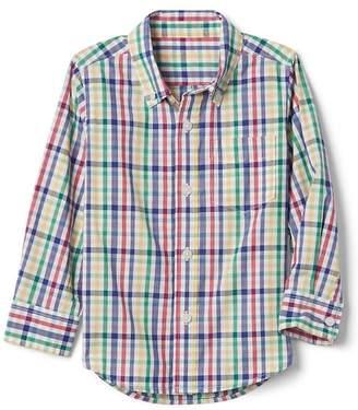 Gap (ギャップ) - Gap チェック ボタンダウンシャツ