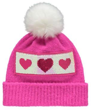 6a61e0b3da5a1 at George   ASDA · Pink Heart Bobble Swipe Sequin Bobble Hat