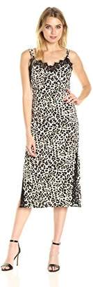 Juicy Couture Black Label Women's Leopard Duchess Satin Slip Dress