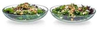 Libbey Selene Glass Serving Bowls, 12-inch, Set of 2