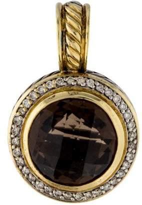David Yurman Smoky Quartz & Diamond Cerise Pendant