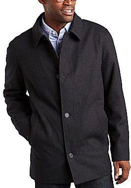 Claiborne Wool-Blend Car Coat