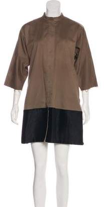 MM6 MAISON MARGIELA Short Sleeve Knee-Length Coat
